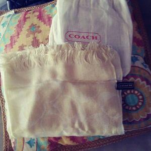Coach signature scarf